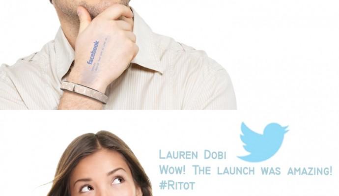 RitotでFacebookやTwitter