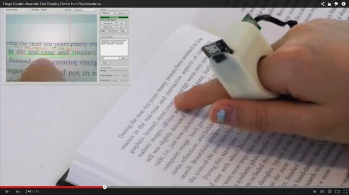 FingerReaderで本を読む