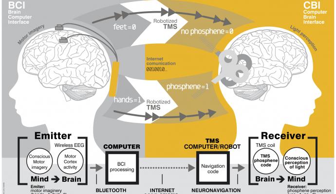 脳から脳への通信方法
