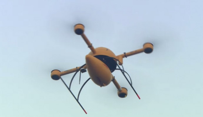 DHLパケットコプター離陸