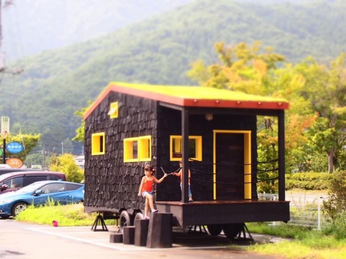 竹内さんが作ったタイニーハウス