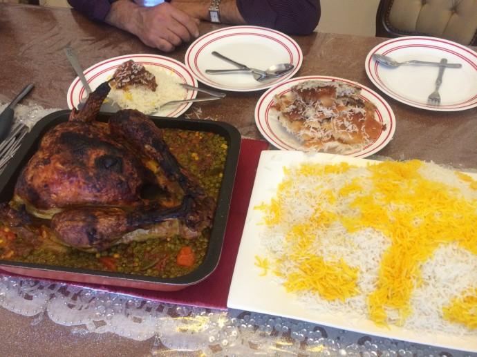 サフランライス お焦げ ペルシャ料理