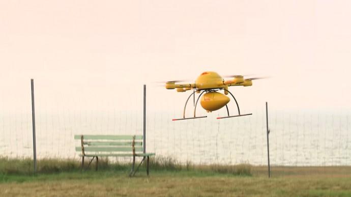 DHLパケットコプター着陸