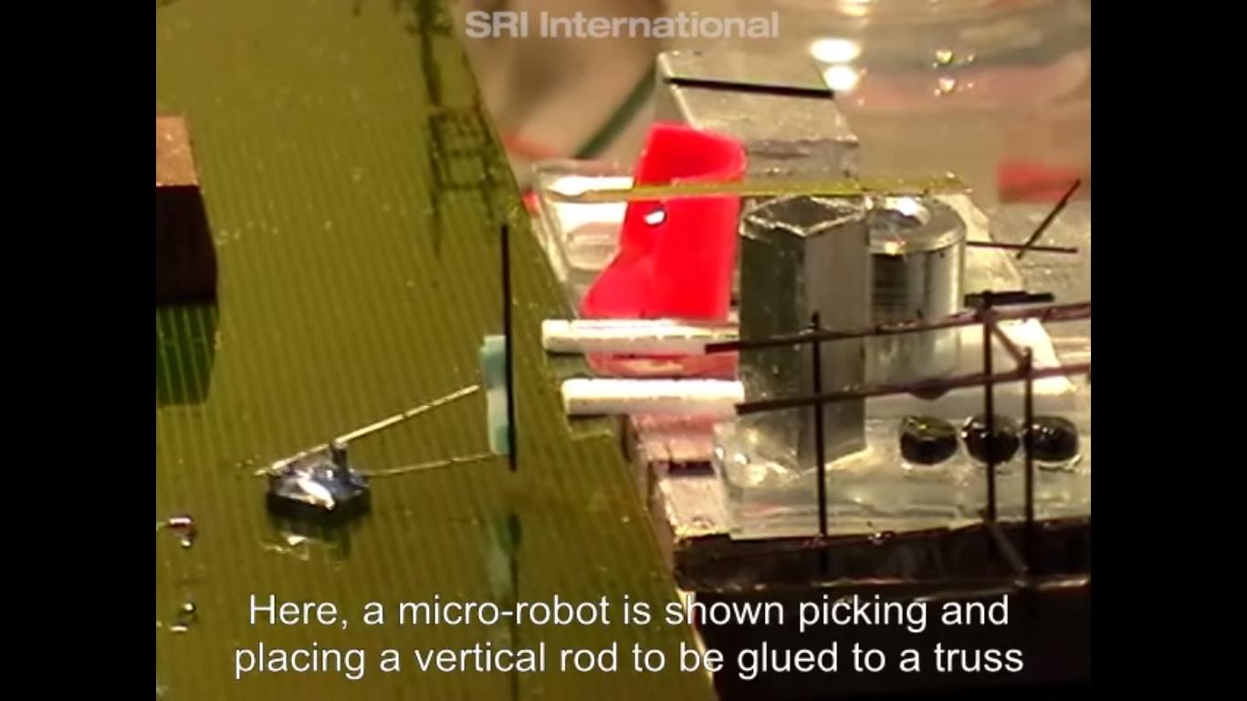 建造物を作るマイクロ・ロボット