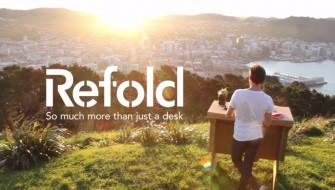Refold's Portable Cardboard Standing Desk_top