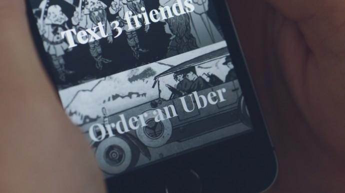 タクシーを呼ぶ設定