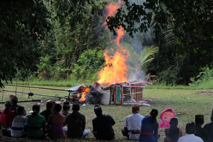 バリ島 ヒンドゥー 葬式 火葬