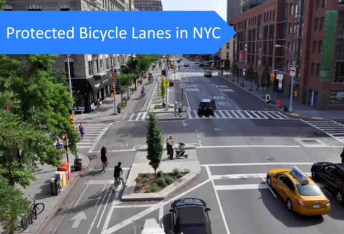 ニューヨークの自転車道路