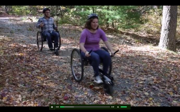 LFC車椅子走る