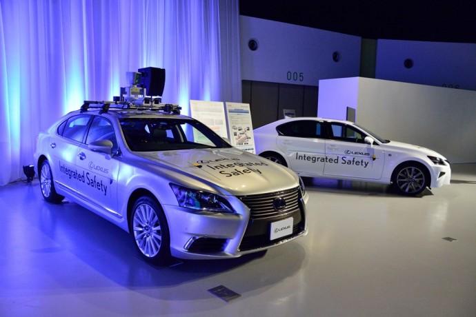 トヨタの自動運転実験車両