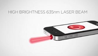 iPhoneからビームが出せる…!? スマホ搭載型レーザーポインター「iPin」