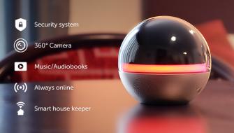 360度カメラで家を守り、リモコンにもスピーカーにもなるお洒落な球体