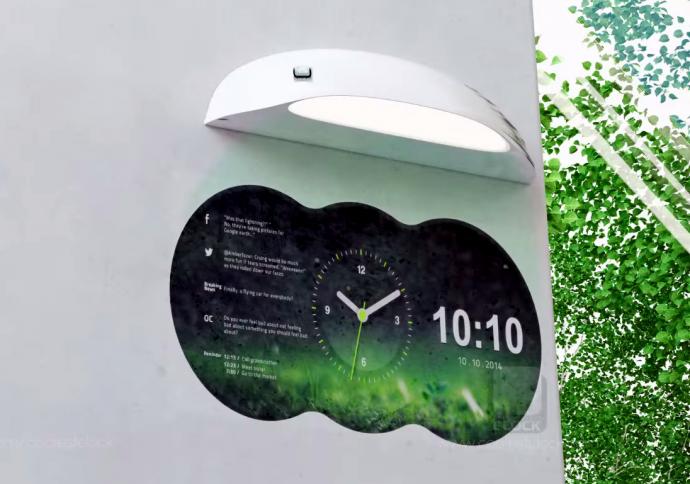 時計の域を越えすぎ?何でも映し出すプロジェクション式の掛け時計