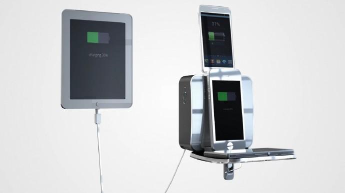 デバイス達の「充電ドック」誕生!スマホやタブレットを一括チャージできる
