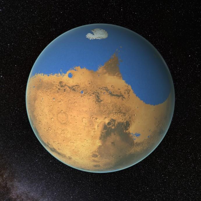 火星の北半球はかつて海!43億年前は「2トーン惑星」だったのかも