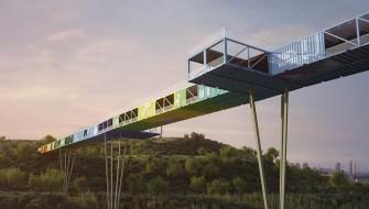 建築トレンドは「リサイクル」か?コンテナを利用した橋が斬新すぎる