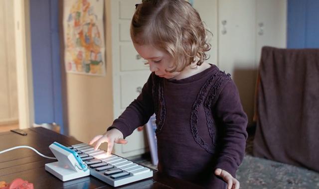 鍵盤が光ってガイド