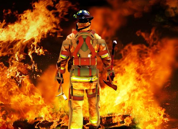 外骨格の見た目もスゴイ!無敵の消防士になれるパワードスーツ「A.F.A」