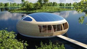 なにこれフリーザの宇宙船?環境にやさしい水上に浮く家「WaterNest 100」