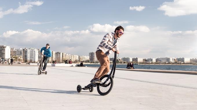次世代サイクルの新提案!足こぎセグウェイ「Halfbike II」