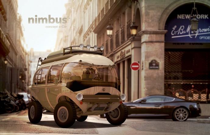 フォルクスワーゲンバスをオマージュした未来の電気自動車「Nimbus」