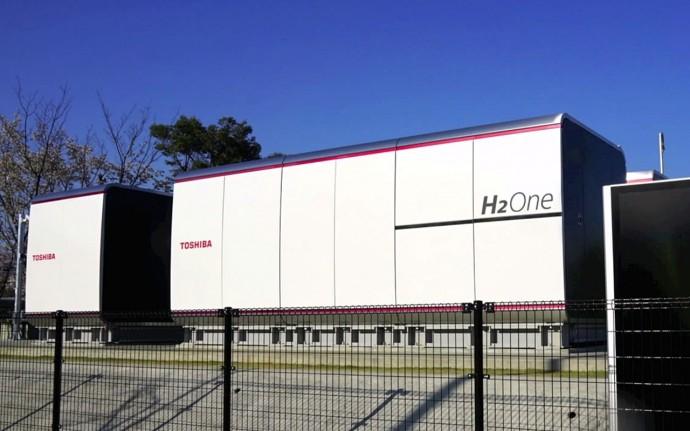 東芝・太陽光で水素を生成する自立型エネルギー供給システムを実装