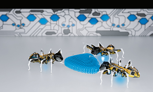 捕まえた虫、それロボットかもよ?共同作業が可能なメカアリ