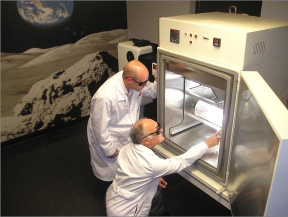 火星の部屋での実験