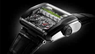 液晶ではない!? 「液体」が時刻を表示するメカニカルな腕時計に痺れる