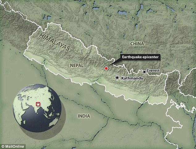 ネパールの位置