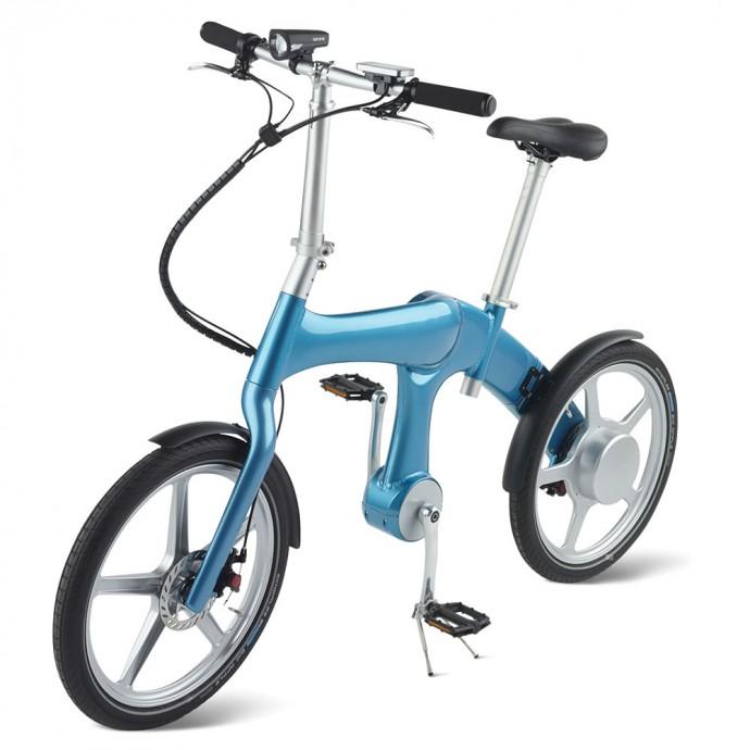 時速25km出せる!「チェーンレス」の充電式電気自転車