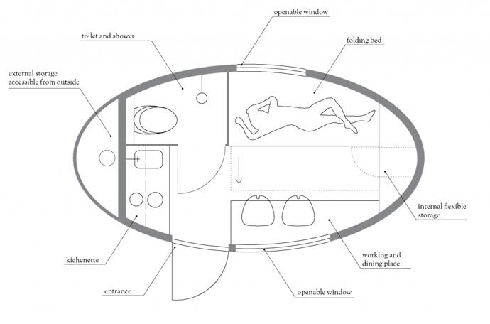 エコカプセル平面図
