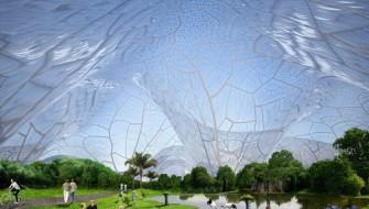 次世代の大気汚染対策はSFチック!? 透明なドーム型天井