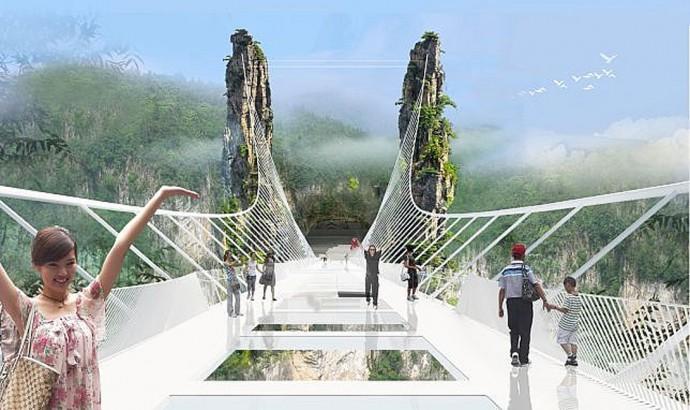もうすぐ中国で完成!? 「全長400mの透明な橋」