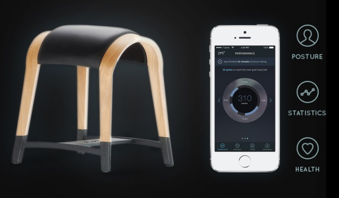 正しい座り方や姿勢をスマホアプリで教えてくれるオランダ製デザインチェア