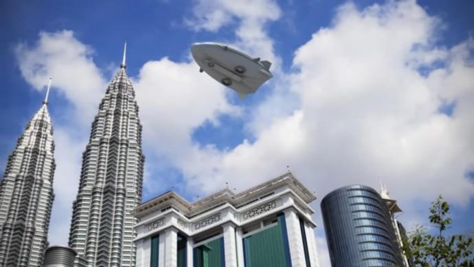 Hybrid Airship下から