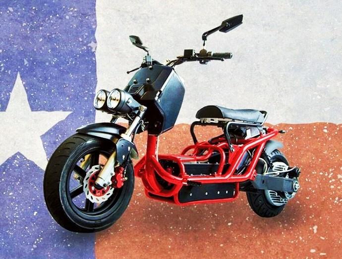 排気ガスを出さない?インホイールモーター搭載で最大トルク200Nの電動バイク
