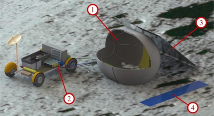 月探査の「秘密兵器」?人間が居住できる移動式シェルター