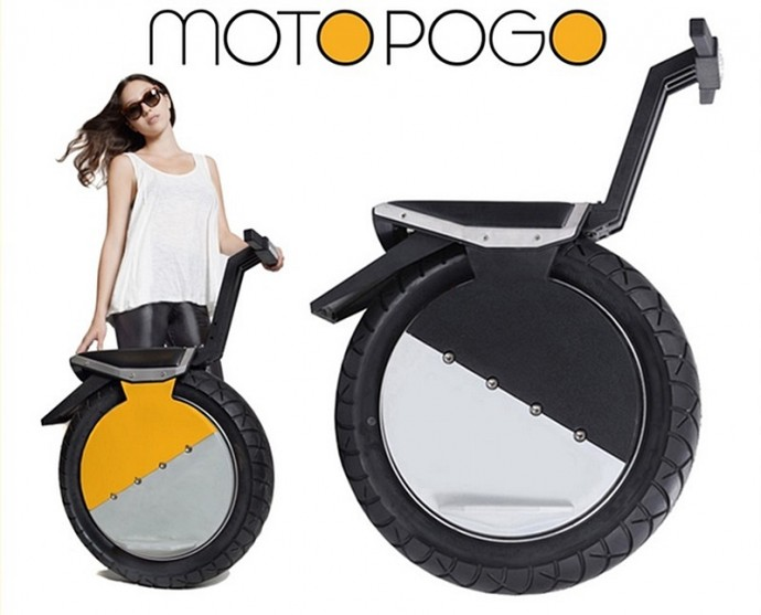 セグウェイみたいな一輪バイク「MOTO POGO」