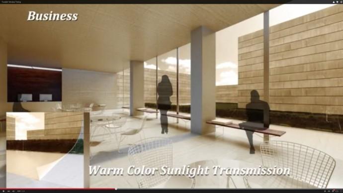 明るさも色彩も好気に選べる「電子ディスプレイ技術」をつかったブラインド