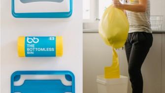 ゴミ袋が次から次へと取り出せる未来のゴミ箱「THE BOTTOMLESS BIN」