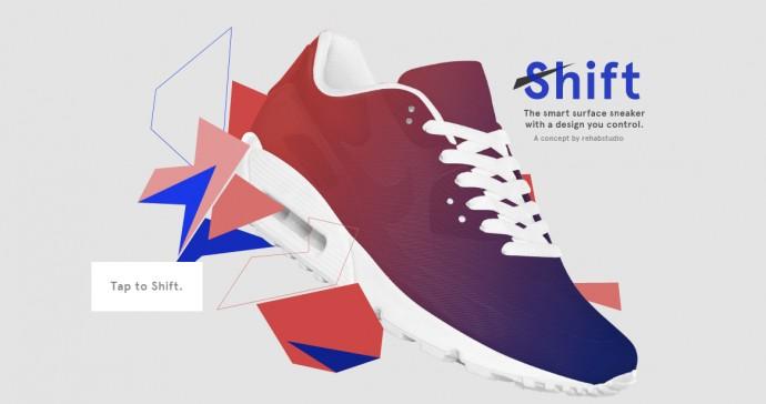 スマホでデザインを変更できるスニーカー「Shift Sneaker」が登場!その仕組みとは