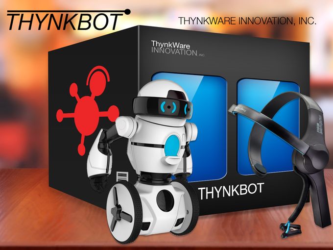 子供でも脳波でコントロールして遊べるロボット「ThynkBot」