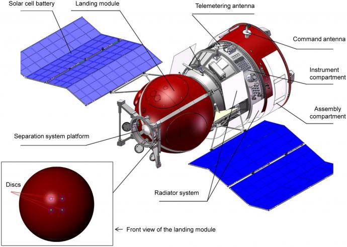 人工隕石を搭載したフォトンM4