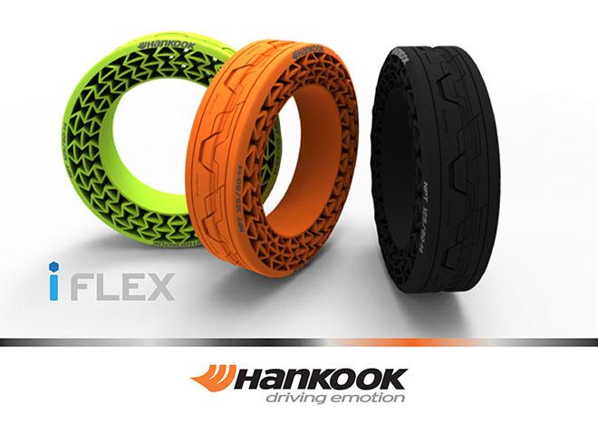 パンクなしのエアレスタイヤHANKOOK「iFlex」が高速テストに成功
