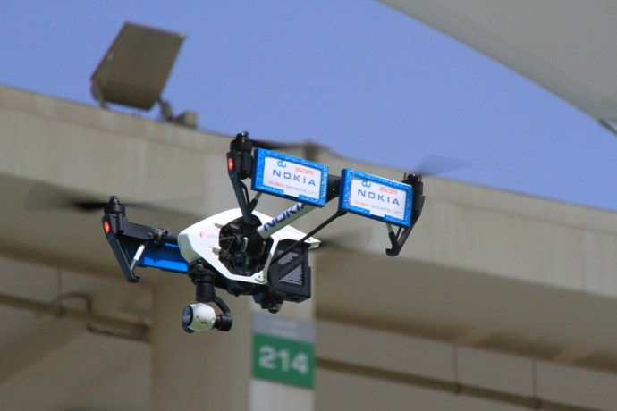 Nokiaが携帯電話基地局の点検にドローンを採用