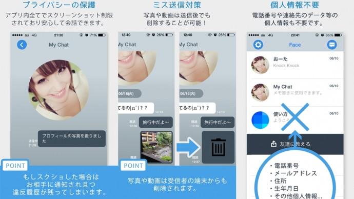 Face メッセンジャー アプリ 02