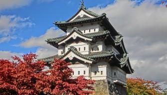 弘前城 紅葉