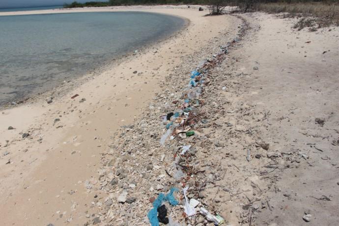 インドネシア,バリ,ビーチのゴミ