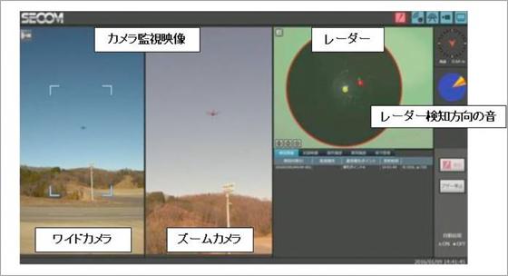 監視卓の映像